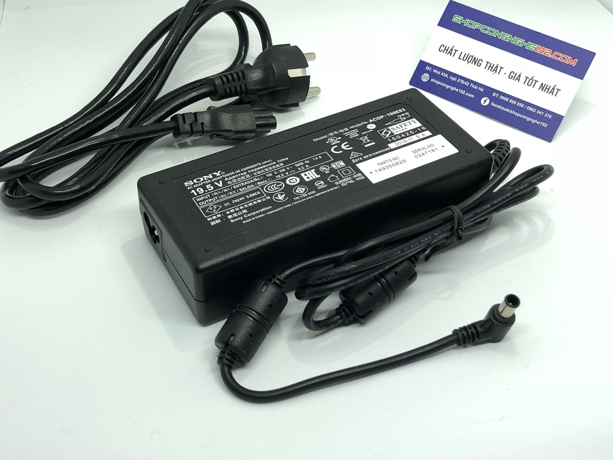 Adapter Sony 19.5V 19,5v 5,2a Sử dụng cho các dòng màn hình tivi sony như  Sony Bravia KDL-42W705B KDL-42W706B KDL-42W805B KDL-42W815B KDL-42W817B ...
