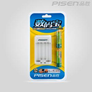 Sạc Pisen TS – MC005(kèm 2 pin AA 1300mah pisen) hàng chính hãng