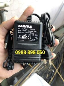 Nguồn Adapter Đầu Thu Micro Shure 12V- 400ma