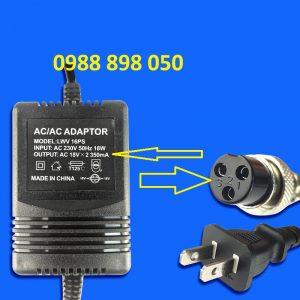 Cục nguồn bàn trộn âm mixer yamaha ac 18v X2 350ma jack 3 PIN