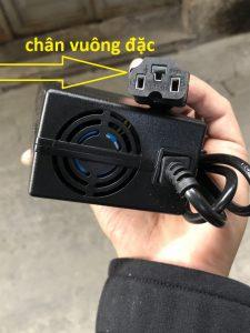 sạc xe điện 42v cho xe điện dùng pin 36v chân vuông đặc