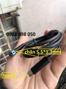 dây cáp sạc type-c cho laptop acer (usb-c to 5.5mm*1.7mm)